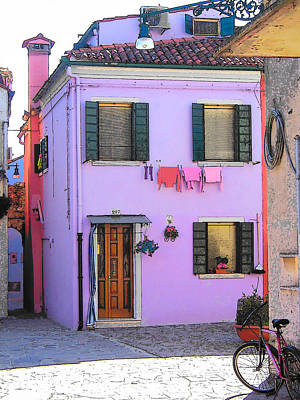 Photograph - Burano Italy - The Purple House by Jan Matson