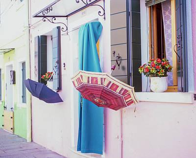 Photograph - Burano Italy Umbrellas  by John McGraw
