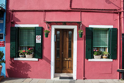 Photograph - Burano Italy With Plants  by John McGraw