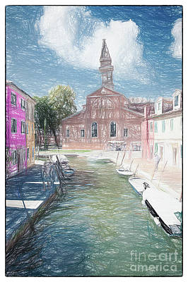 Photograph - Burano Sketch I by Jack Torcello