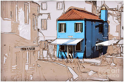 Photograph - Burano Sketch by Jack Torcello