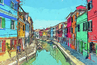 Photograph - Burano Sketch by Kay Brewer