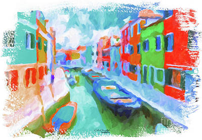 Painting - Burano, Venice, Italy by Chris Armytage