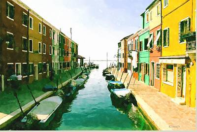 Digital Art - Burano Venice by Kai Saarto