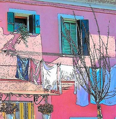 Photograph - Burano Washing Day by Jan Matson