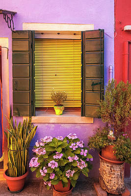 Photograph - Burano Window Display by Andrew Soundarajan