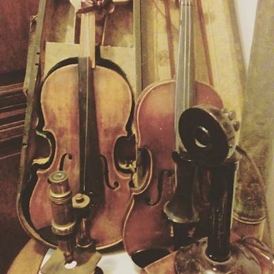 Music Wall Art - Photograph - Antique Violins by Kaelin Priger