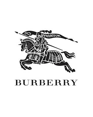 Versace Digital Art - Burberry - Black And White by Alta Vita
