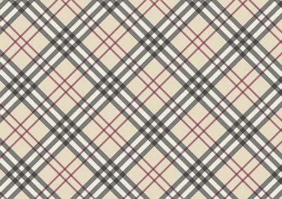 Fashion Design Tapestry - Textile - Burberry Pattern by Taylan Apukovska