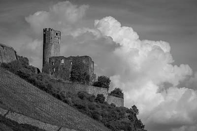 Burg Ehrenfels B W 02 Art Print