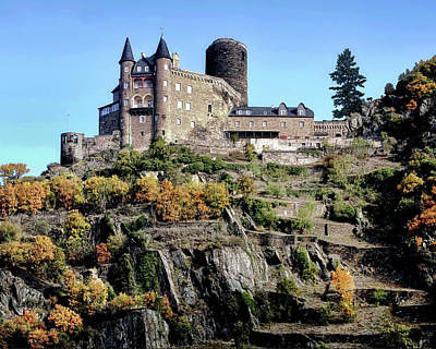 Burg Katz - Rhine Gorge Art Print by Jim Hill