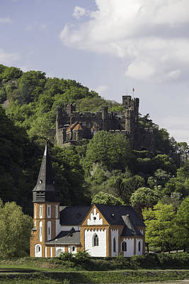 Burg Reichenstein And Clemenskapelle Art Print by Teresa Mucha