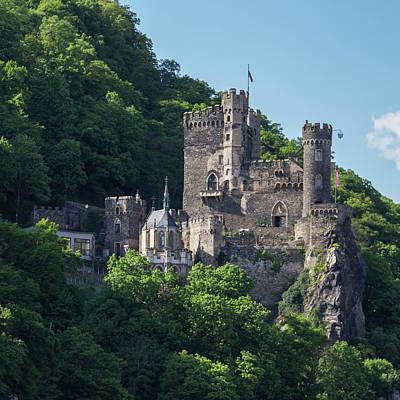 Palatine Photograph - Burg Rheinstein Squared by Teresa Mucha