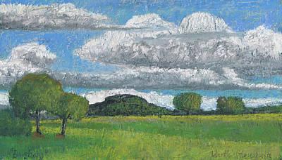 Painting - Burgberg ,plein Air Oelpastel Landschaft by Martin Stankewitz