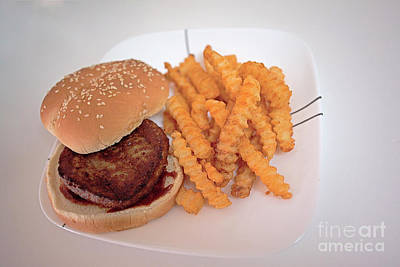 Photograph - Burger And Fries by Anne Rodkin