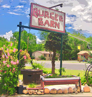 Photograph - Burger Barn Color by Marilyn Diaz