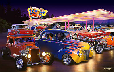 Chevy Photograph - Burger Bobs by Bruce Kaiser
