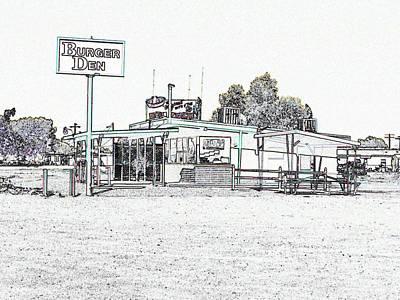 Yermo Photograph - Burger Den Del Taco by Douglas Settle
