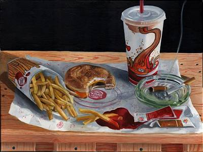 Burger King Value Meal No. 2 Art Print by Thomas Weeks