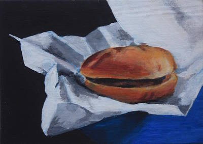 Painting - Burger  by Sarah Vandenbusch