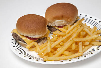 Photograph - Burgers And Fries by CA  Johnson