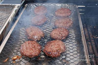 Photograph - Burgers On A Barbecue by David Fowler