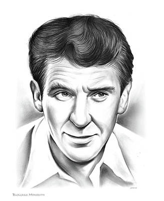 Drawings Rights Managed Images - Burgess Meredith Royalty-Free Image by Greg Joens