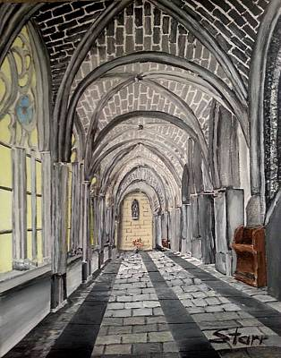 Most Popular Painting - Burgos Cathedral Spain by Irving Starr
