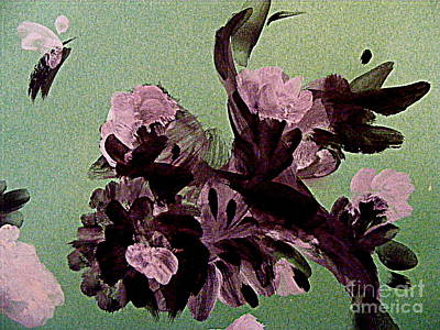 Painting - Burgundy Blooms by Nancy Kane Chapman