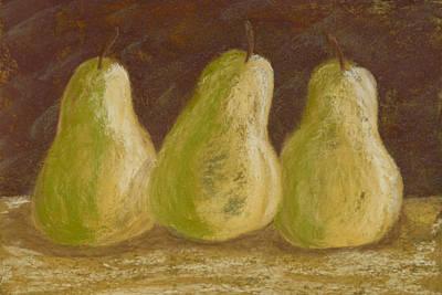 Burgundy Bosc Art Print