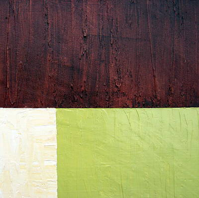 Stucco Painting - Burgundy Cream Pickle by Michelle Calkins