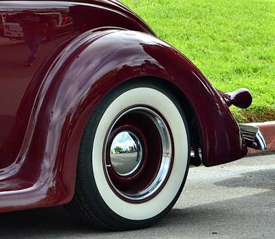 Photograph - Burgundy Ford Fender by Dean Ferreira