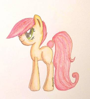 My Little Pony Drawing - Burgundy Patches 2.0 by Regan Guerra