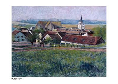 Pastel - Burgundy Vi by Betsy Derrick