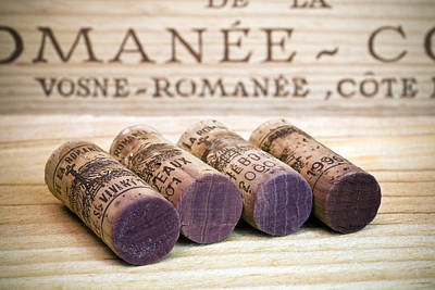 Food And Beverage Royalty-Free and Rights-Managed Images - Burgundy Wine Corks by Frank Tschakert