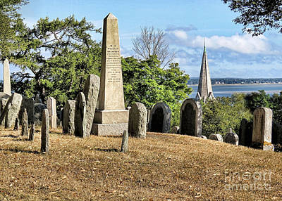Photograph - Burial Hill In August  by Janice Drew