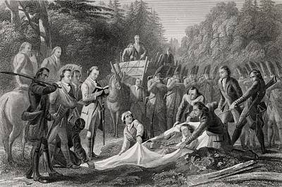 Burial Of General Edward Braddock In Art Print by Vintage Design Pics
