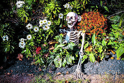 Photograph - Buried Alive - Skeleton Garden by Colleen Kammerer