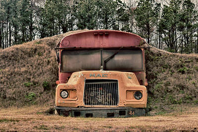 Photograph - Buried Bus by Travis Rogers