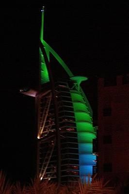 Burj Al Arab Dubai Night Art Print by Iain MacVinish