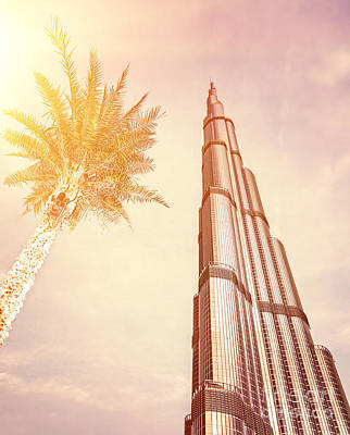 Photograph - Burj Khalifa On Sunset by Anna Om