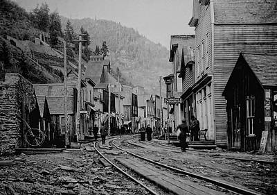 Miners Ghost Photograph - Burke Idaho Ghost Town In Its Prime by Daniel Hagerman