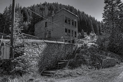 Burke Idaho Mining Ghost Town Art Print by Daniel Hagerman