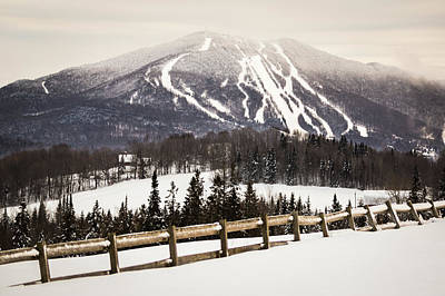 Photograph - Burke Mountain And Fence by Tim Kirchoff