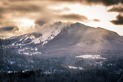 Photograph - Burke Mountain Snowmaking by Tim Kirchoff