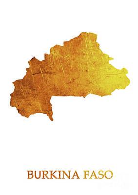 Light Digital Art - Burkina Faso - Gold White by Prar Kulasekara
