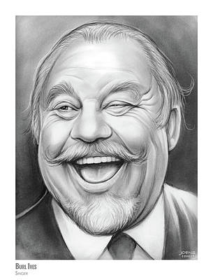 Drawing - Burl Ives by Greg Joens