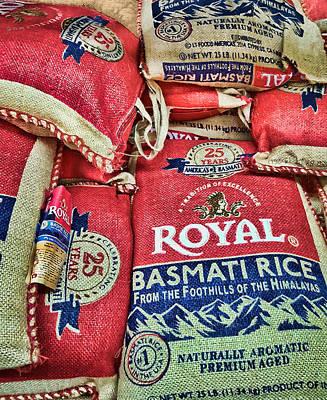 Photograph - Burlap Rice Sacks by Greg Jackson