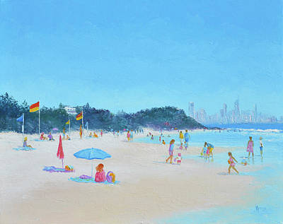 Australian Holiday Painting - Burleigh Heads Gold Coast Australia by Jan Matson