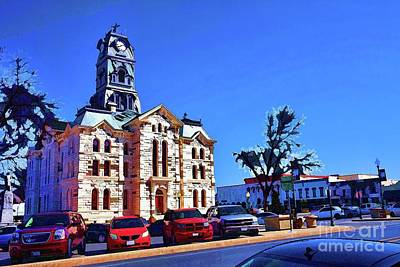 Photograph - Burleson Courthouse by Diana Mary Sharpton